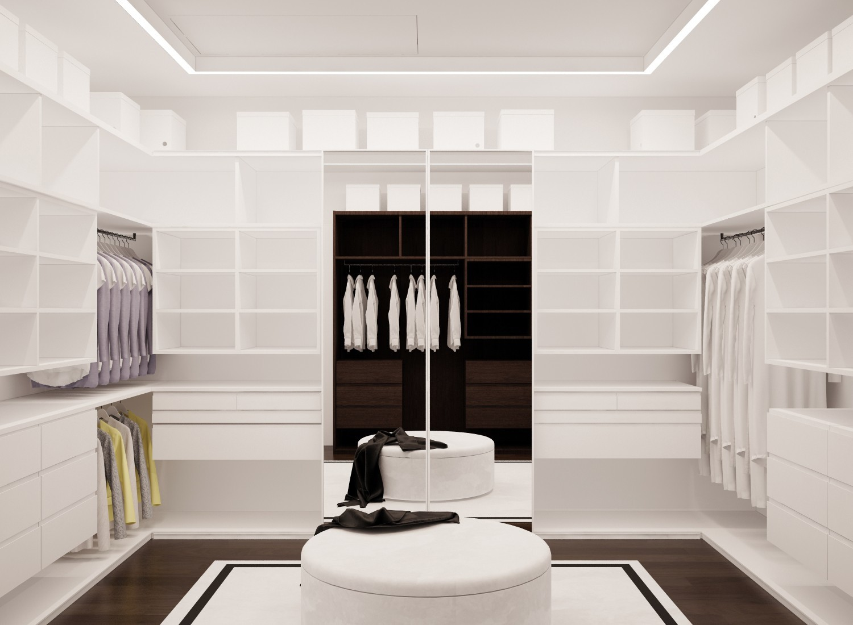 <p>3D-макет гардеробной в доме Елены Летучей</p> <p>Фото: Архитектор Максим Дуреев</p>