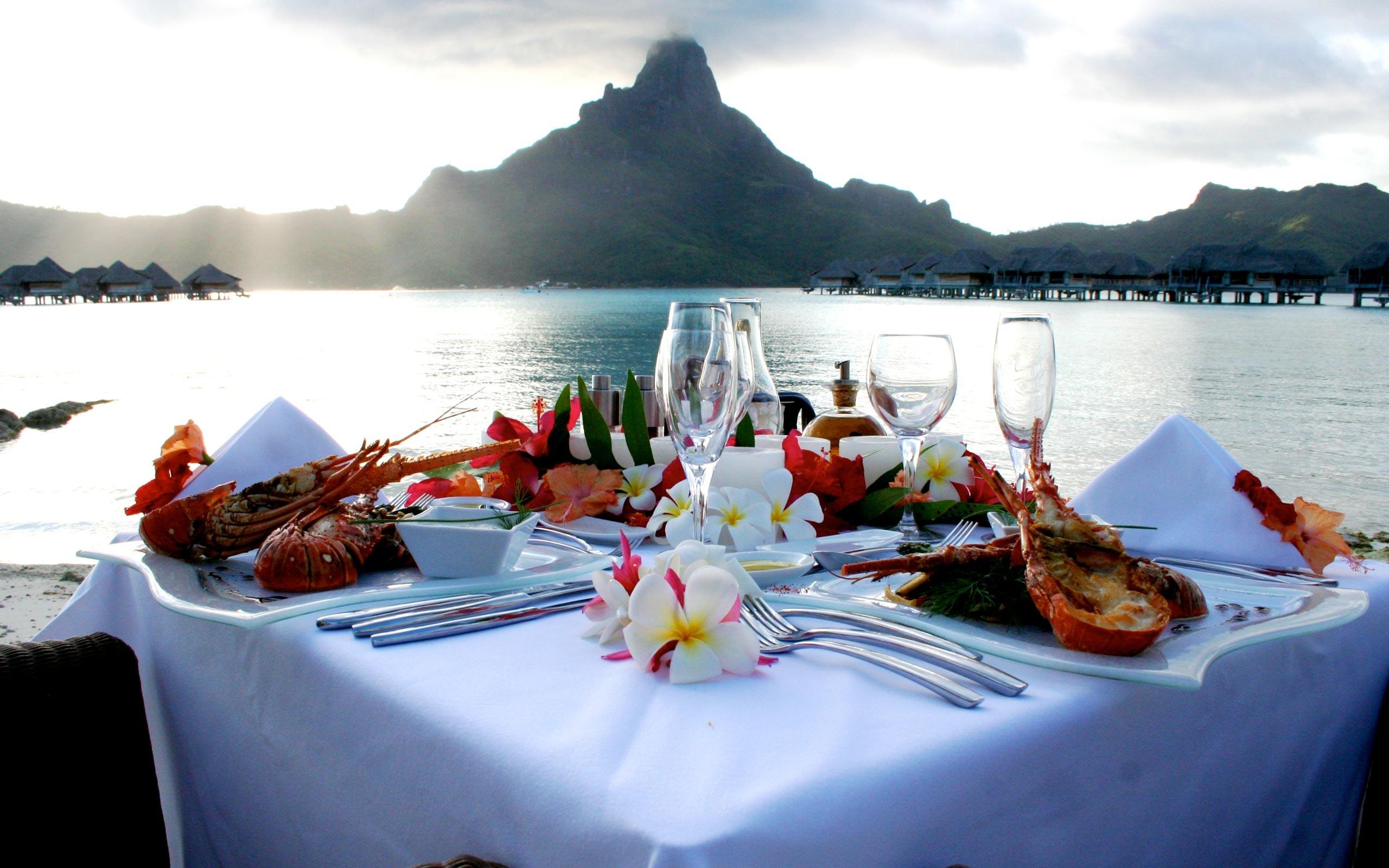 Картинки ужин на море