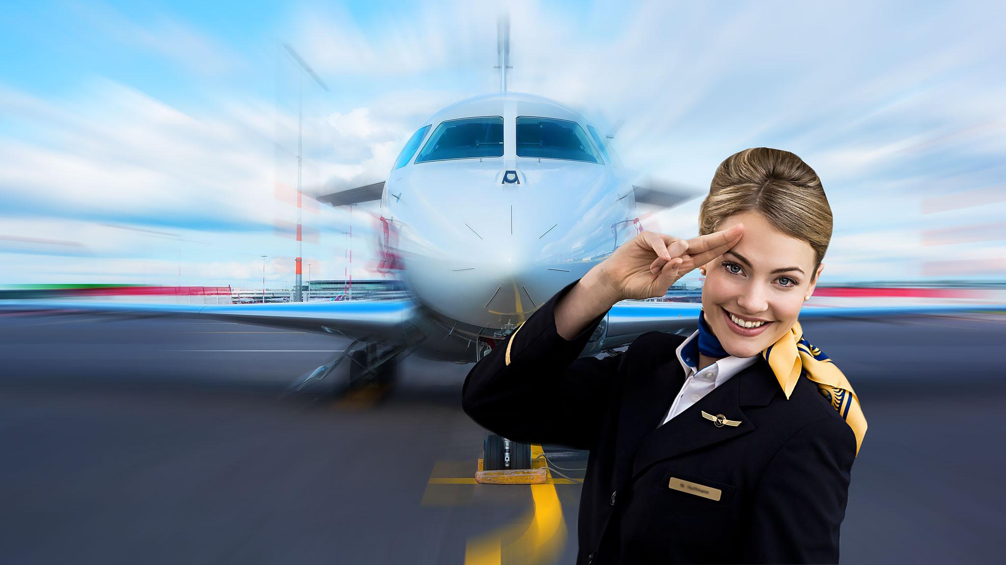 фото стюардессы на фоне тонущего самолета отметила, что набила