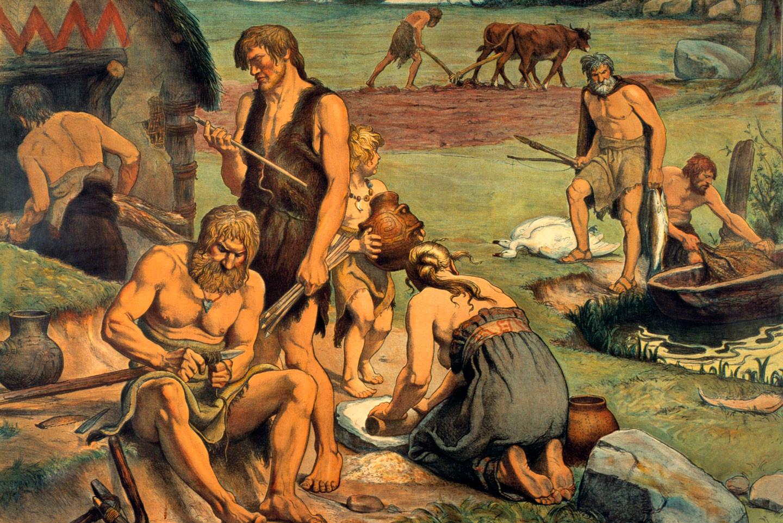 начал древние времена картинки люди город