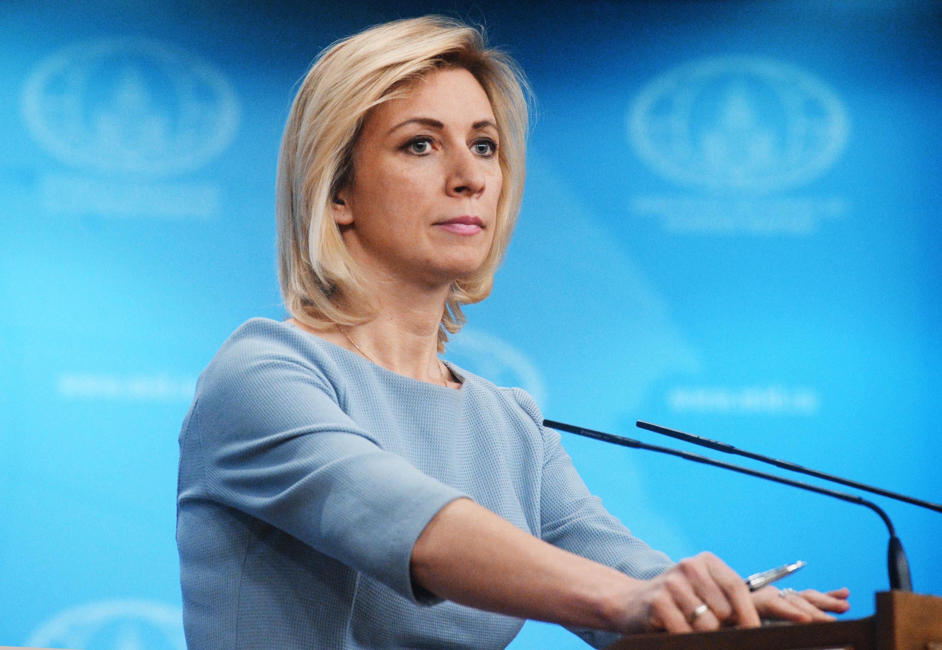 Захарова пообещала Пескову «не без удовольствия» ответить на заявления Госдепа