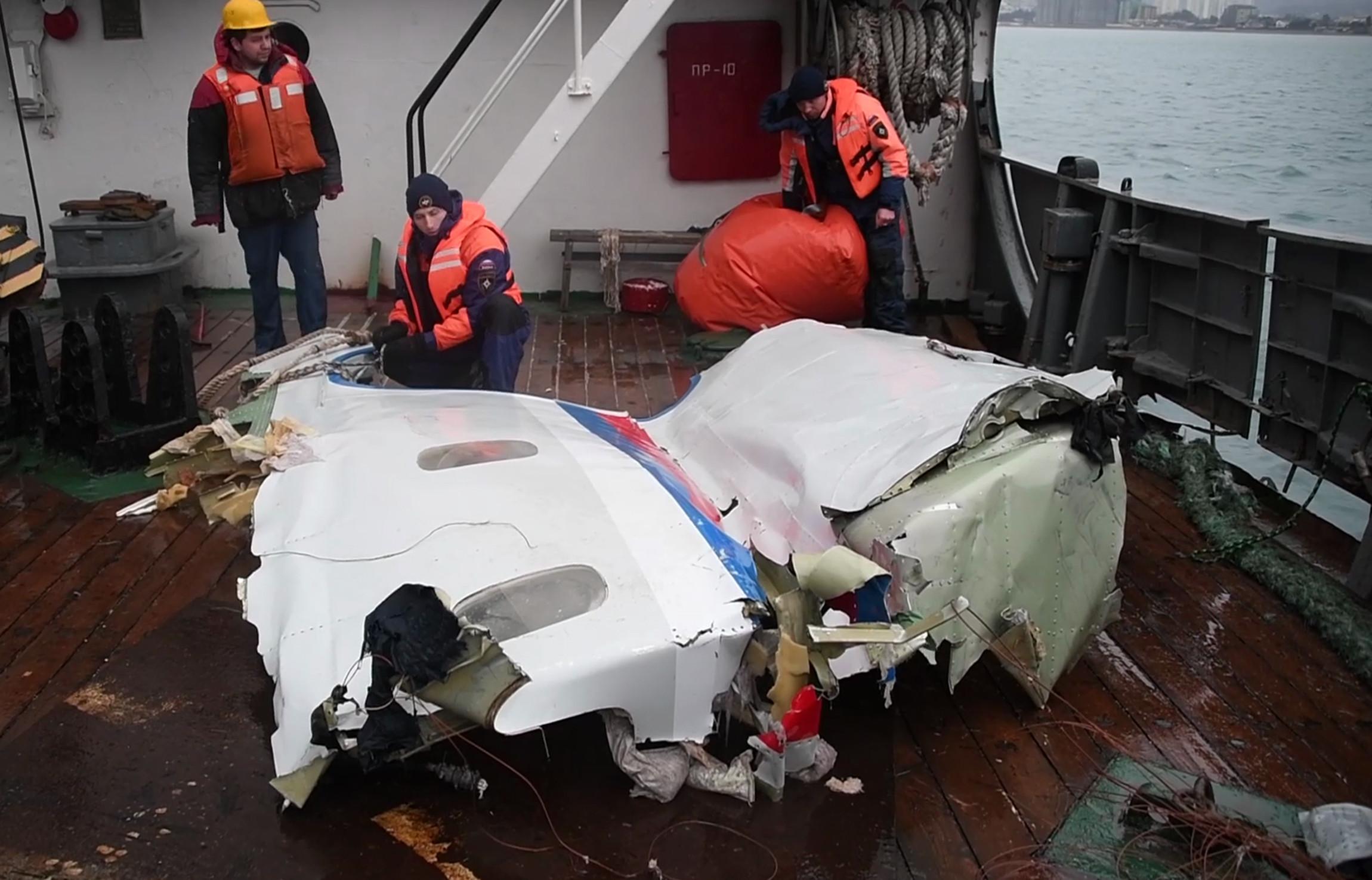 <p>Обломки Ту-154, найденные в Черном море. Фото:<span>&copy; РИА Новости/МЧС РФ</span></p>