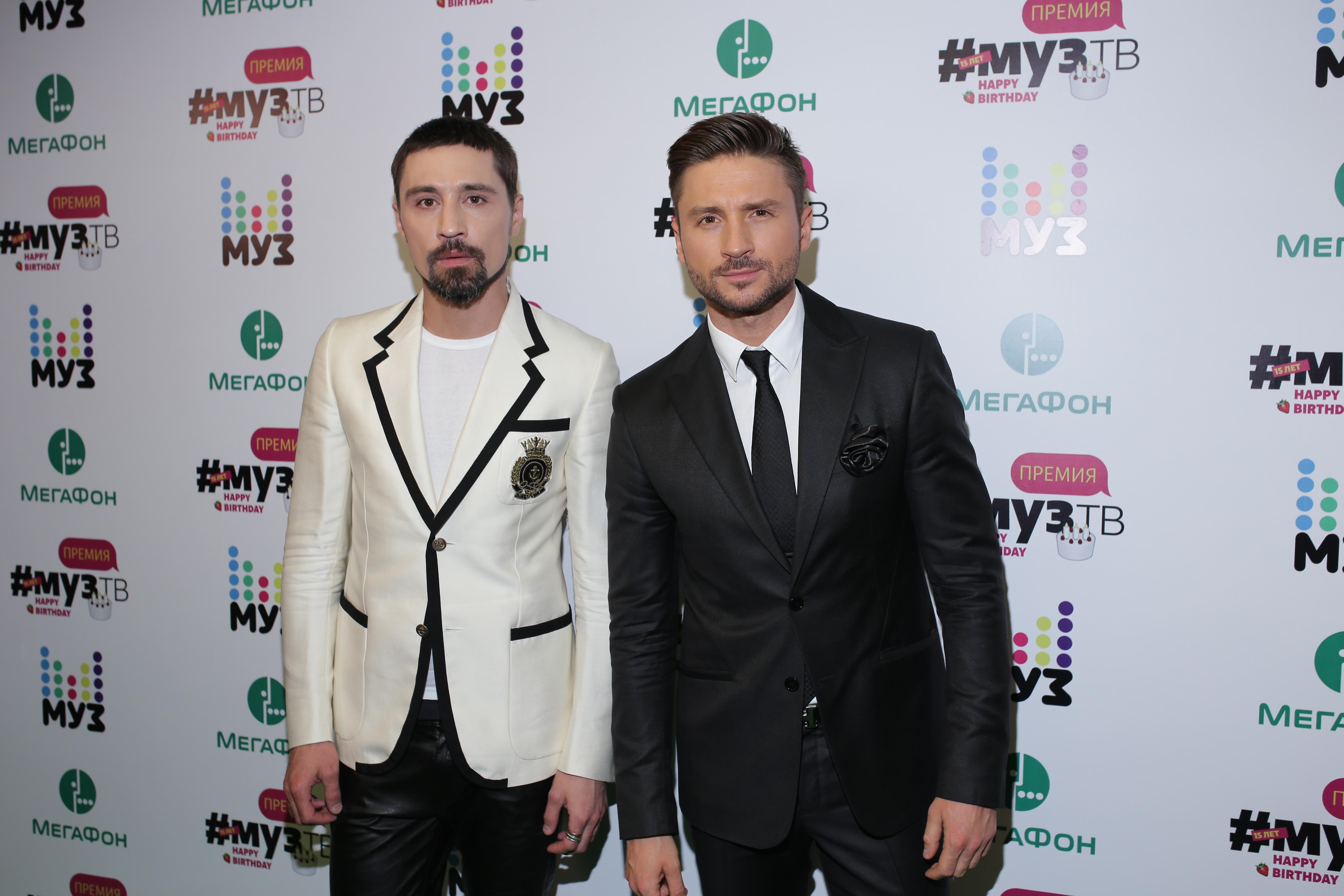 Дима Билан и Сергей Лазарев Фото: Пресс-служба Муз-ТВ