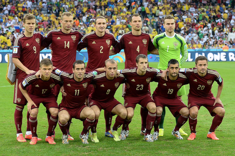 <p><span>Футбольная сборная России на чемпионате мира 2014 года перед встречей с Алжиром. Фото: &copy; РИА Новости/Александр Вильф</span></p>