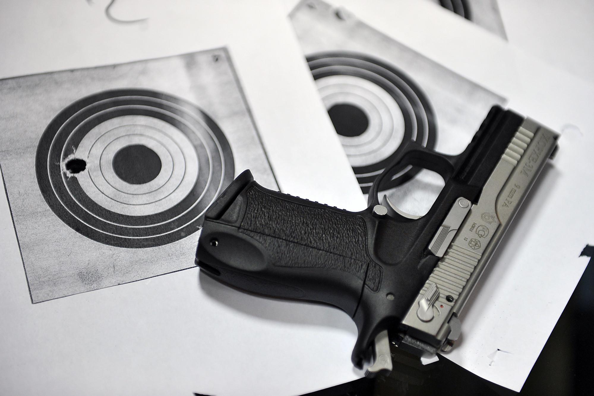 <p><span>Травматический пистолет. Фото: &copy; РИА Новости/Руслан Кривобок</span></p>