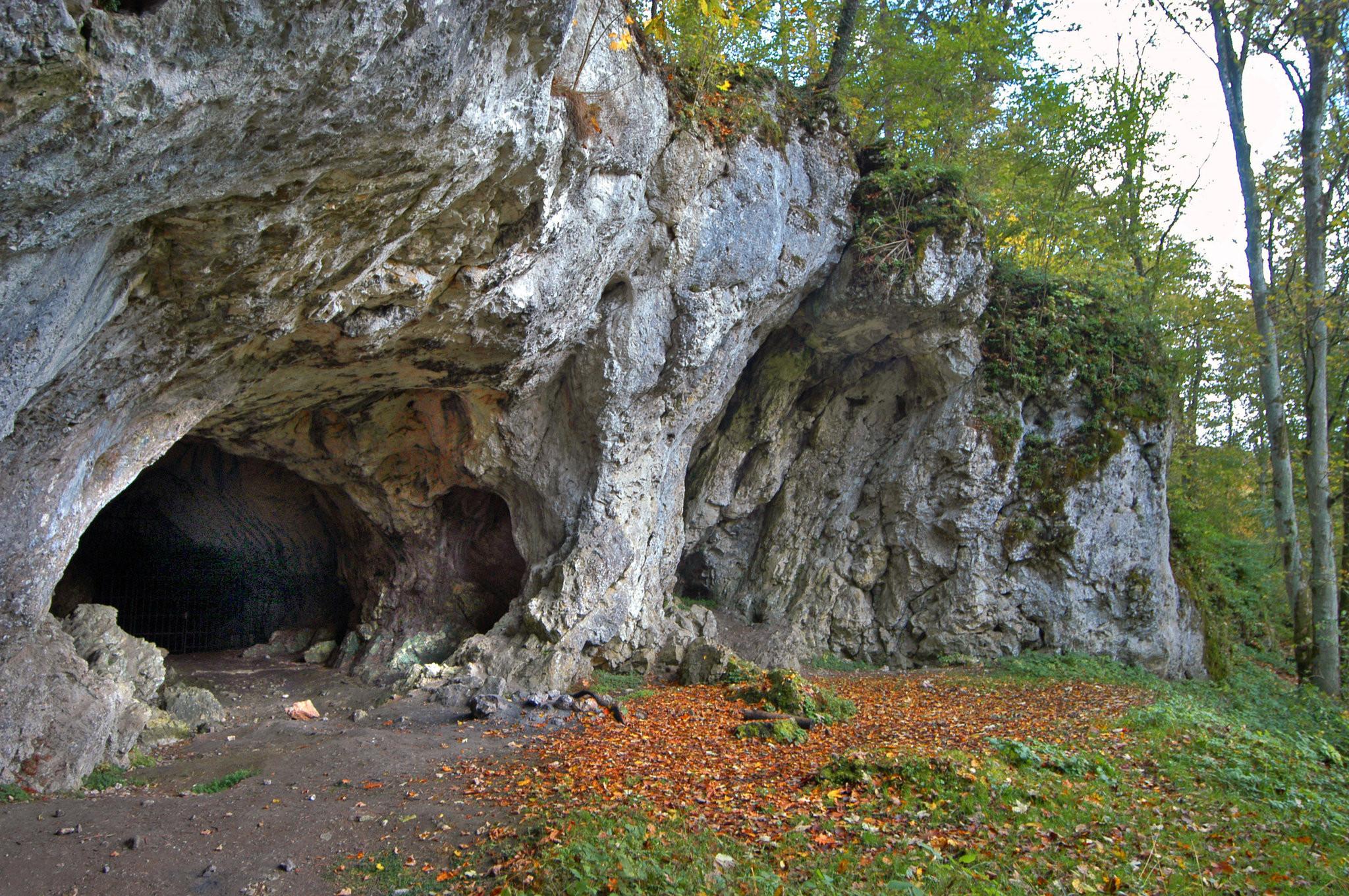 <p>Вход в пещеру&nbsp;<span>Холенштайн-Штадель, где обнаружены останки древнего человека. Фото:&nbsp;Wolfgang Adler/Museum Ulm</span></p>