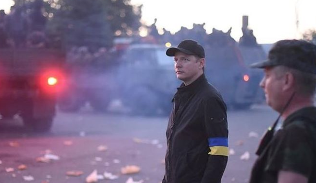 Олег Ляшко во время операции в Донбассе в 2014 году. Фото: Facebook