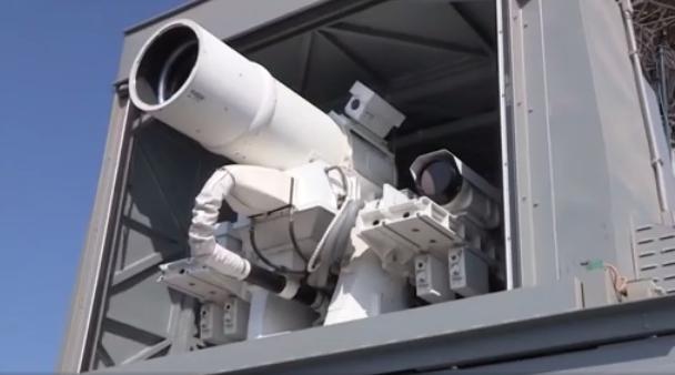 <p><span>Экспериментальное лазерное оружие. Фото: кадр из эфира телеканала CNN</span></p>