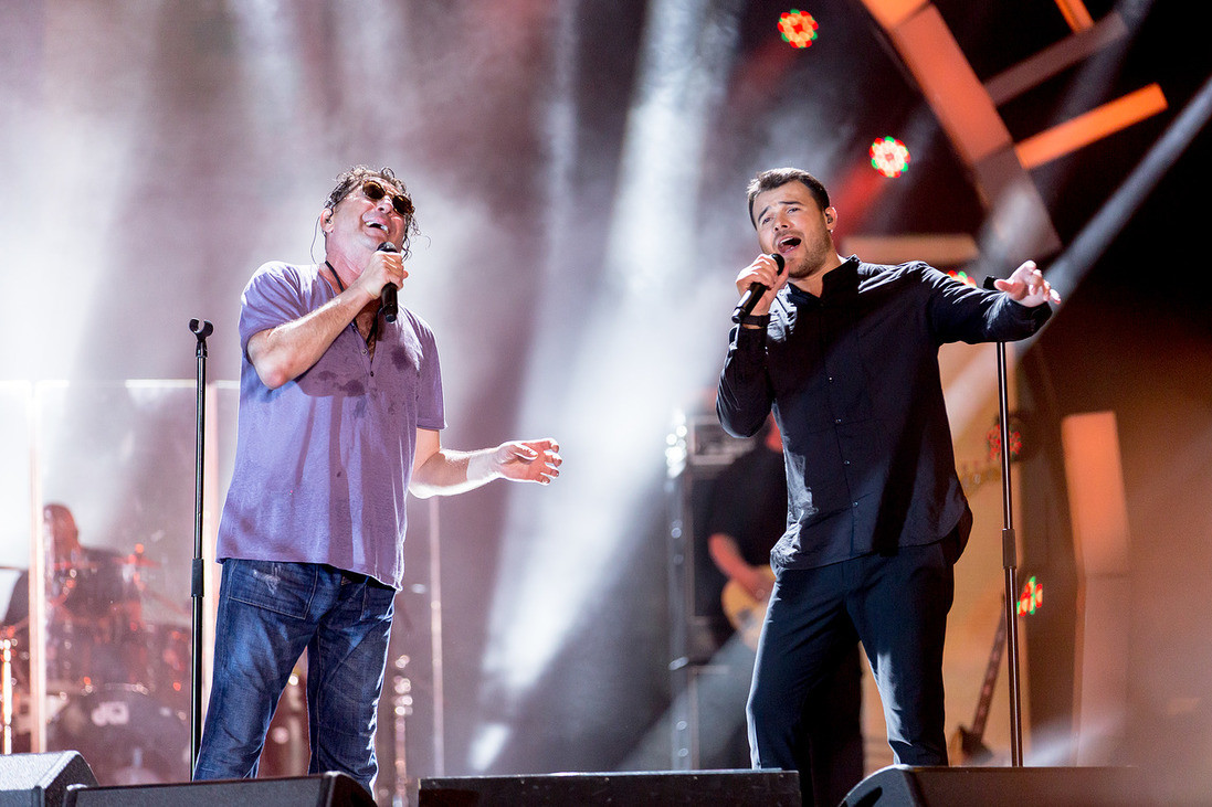 Григорий Лепс и Эмин Агаларов. Фото: LIFE