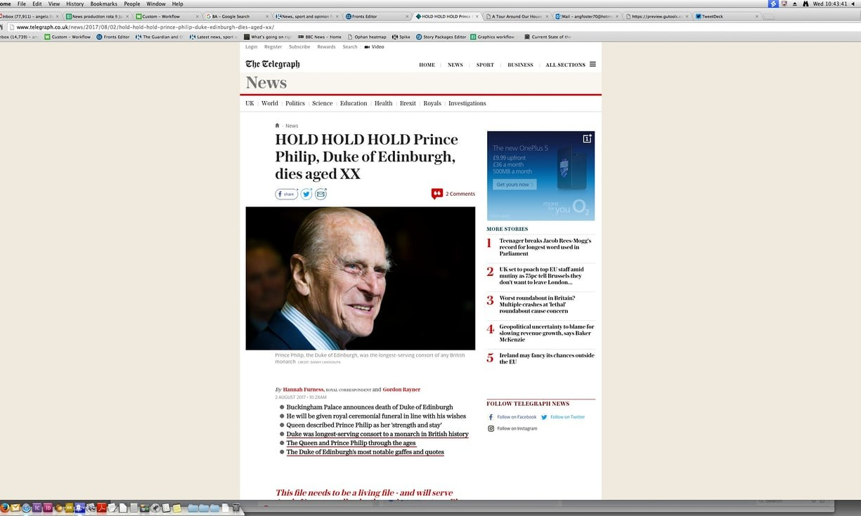 Скриншот публикации газеты The Telegraph. Фото: ©The Guardian