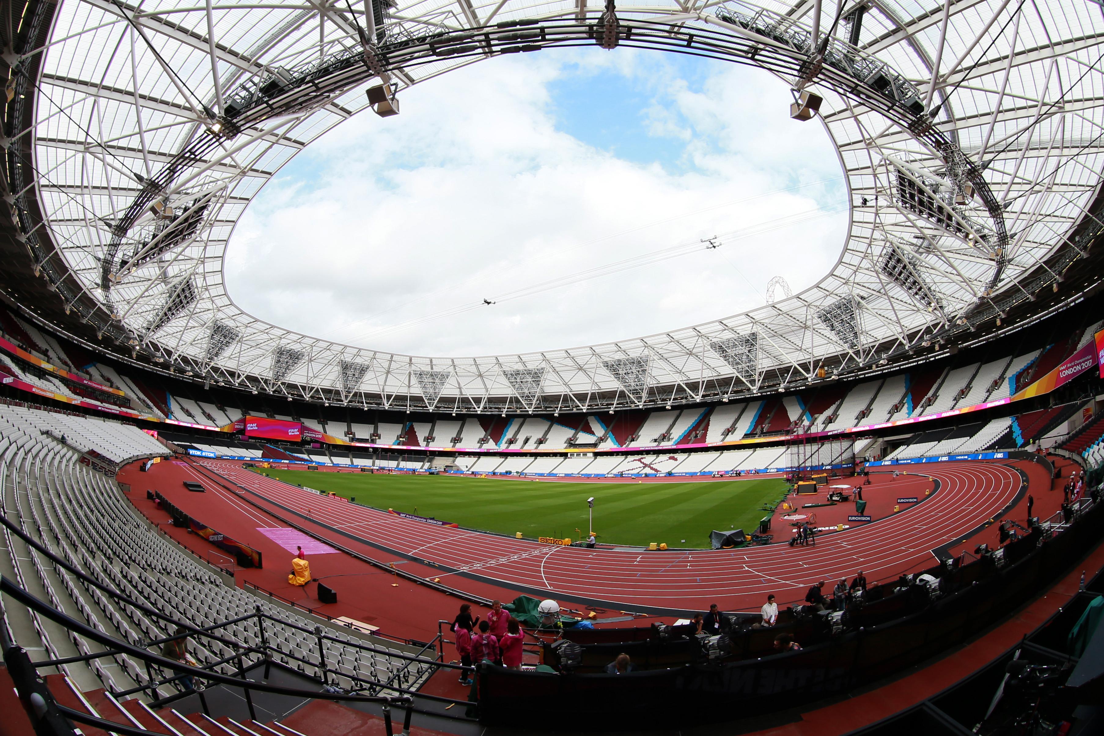 <p><span>Олимпийский стадион в Лондоне в преддверии Чемпионата мира по лёгкой атлетике. Фото:&copy; РИА Новости/Антон Денисов</span></p>