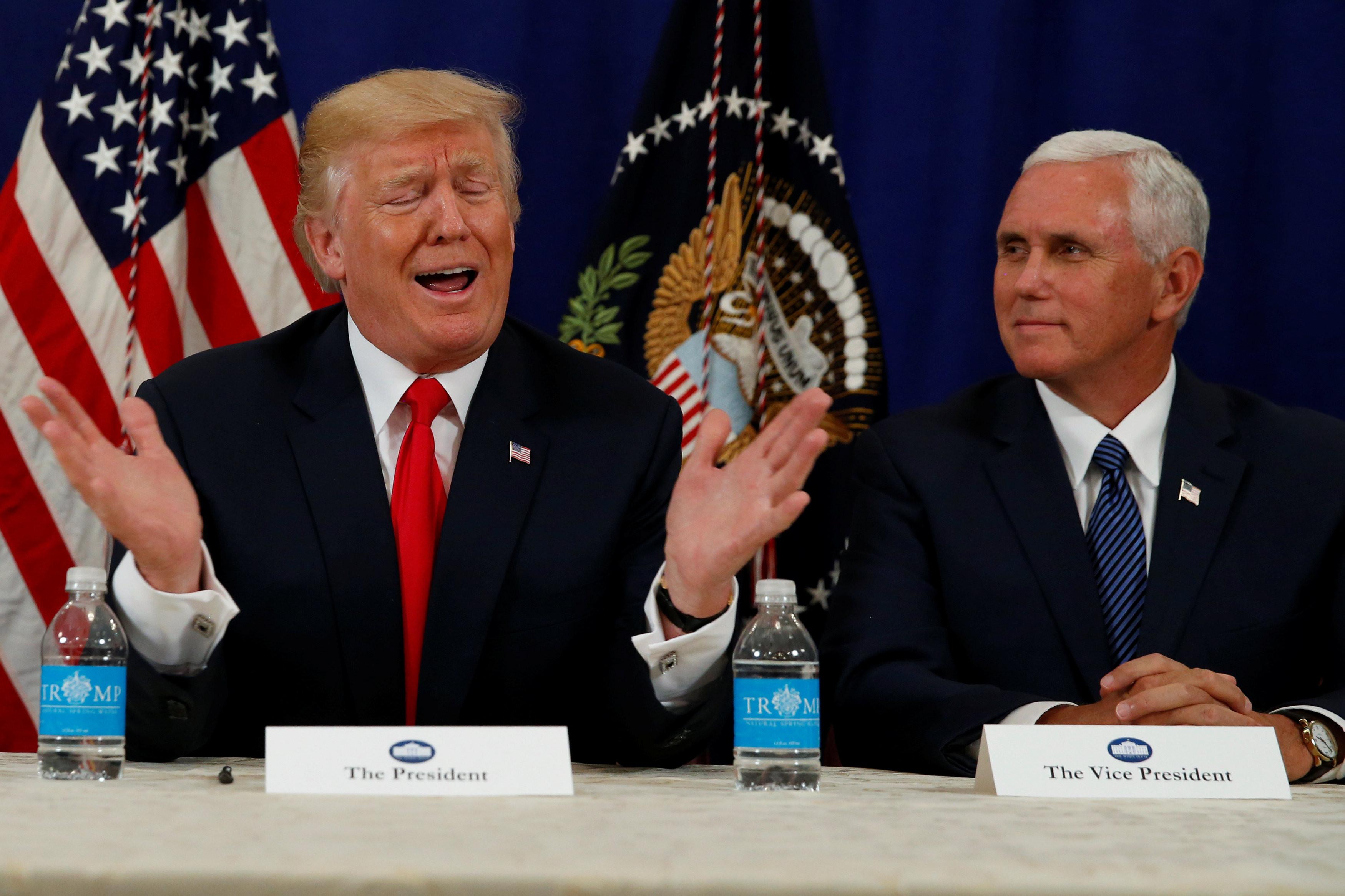 "<p>Президент США Дональд Трамп и вице-президент Майкл Пенс. Фото: &copy; REUTERS/Jonathan Ernst</p> <div data-qa-component=""item-detail""> <div></div> </div>"