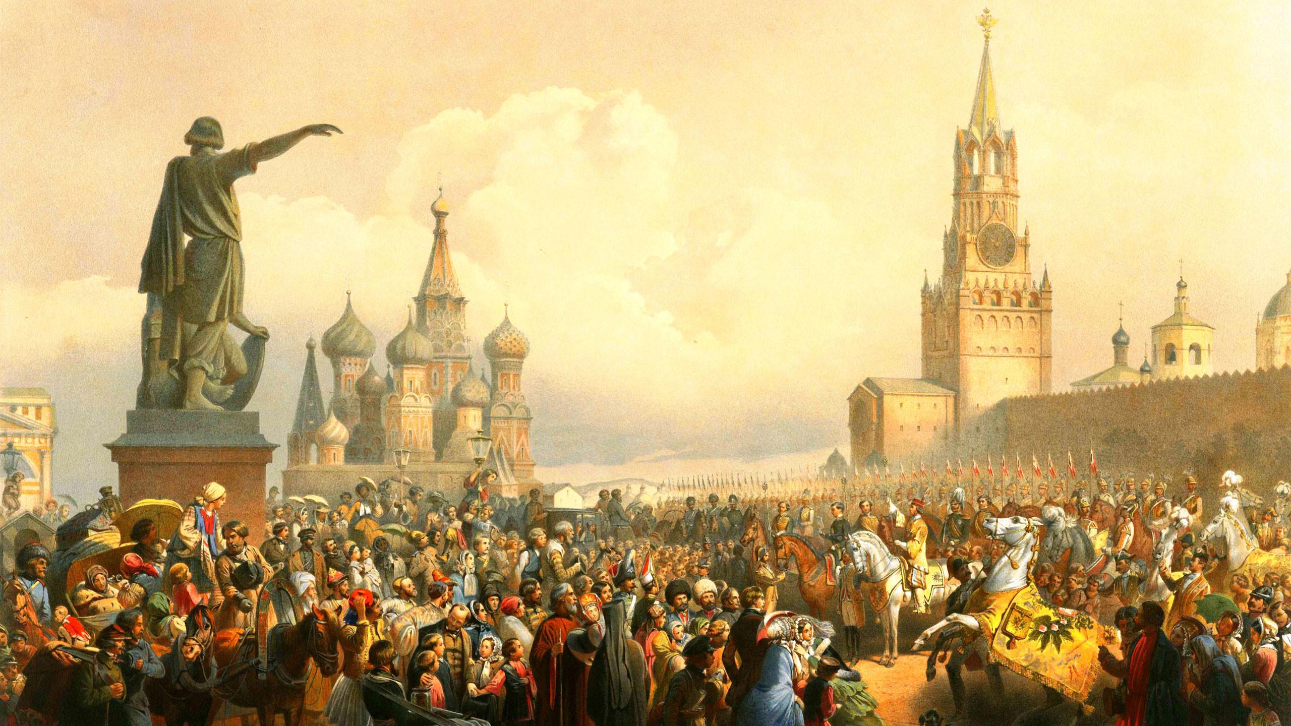 Тимм В.Ф. Объявление о дне коронования на Красной площади