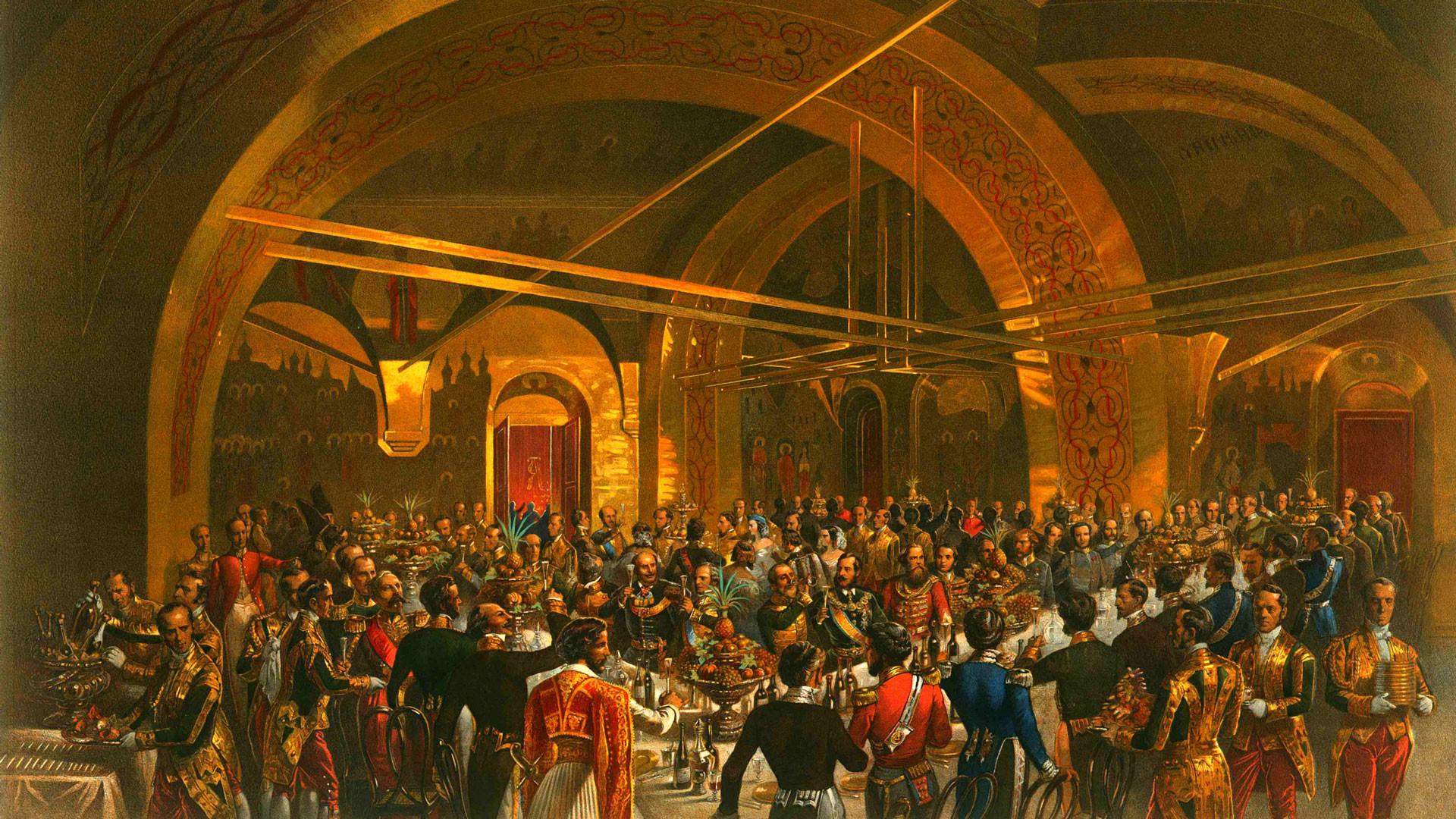 М.А. Зичи. Банкет по случаю коронации Александра II
