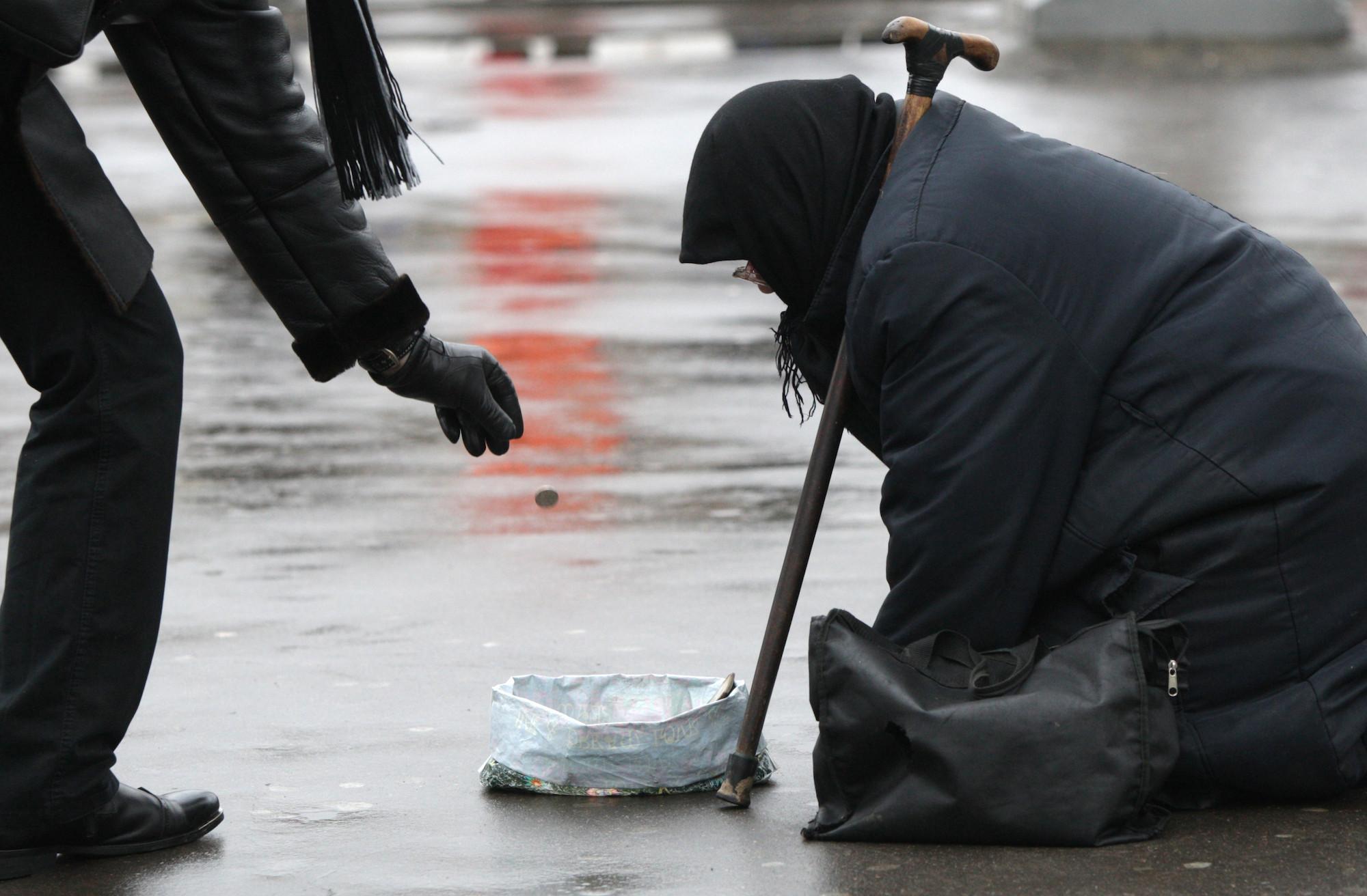 <p>Нищенка на московской улице. Фото: &copy; РИА Новости/Валерий Мельников</p>