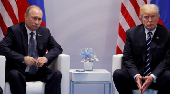 <p><span>Президент России Владимир Путин и президент США Дональд Трамп на встрече в рамках саммита G20 в Гамбурге. </span></p> <p><span>Фото: &copy; REUTERS/Carlos Barria</span></p>