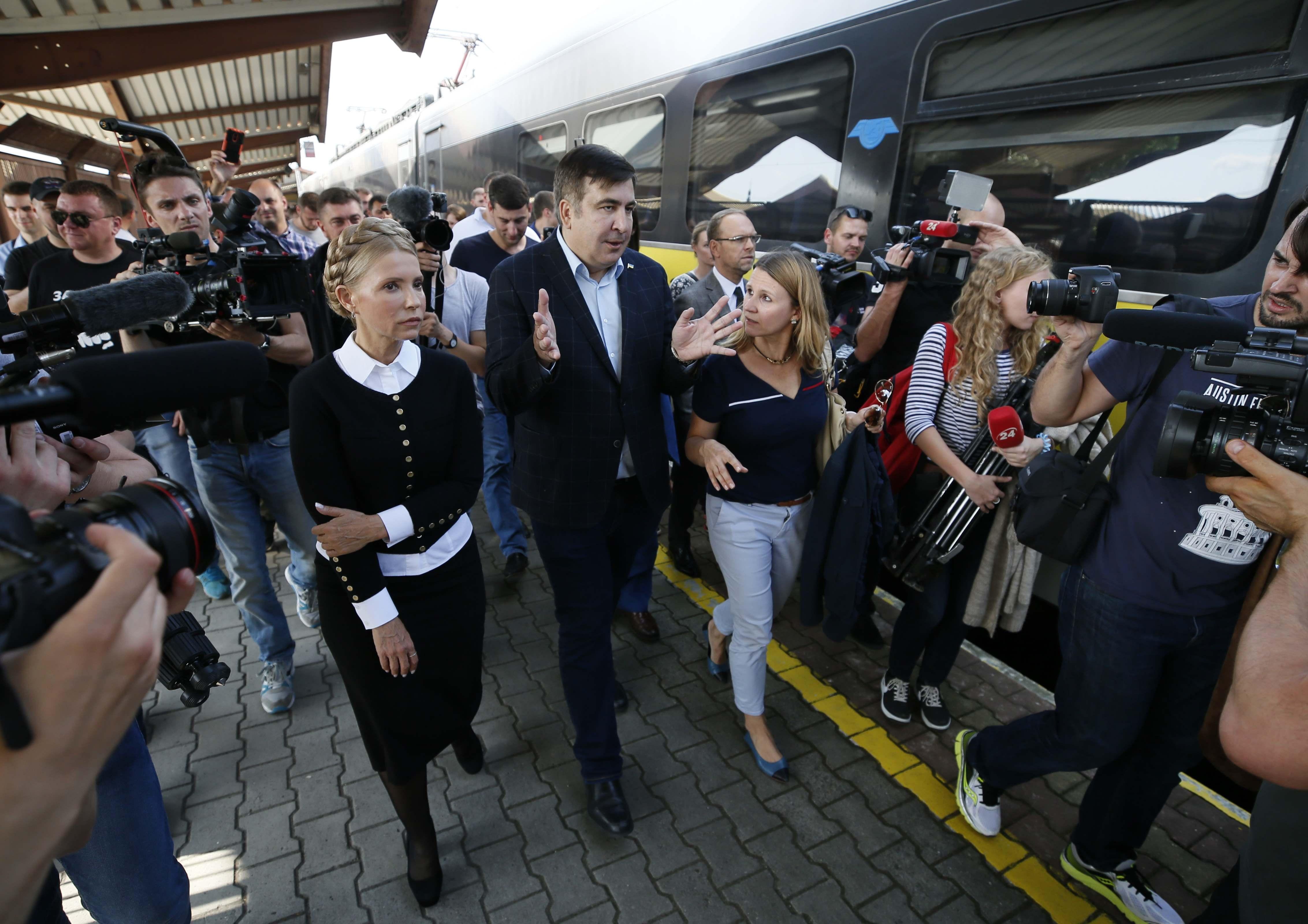 <p>Махиал Саакашвили. Фото: &copy; REUTERS/GLEB GARANICH</p>