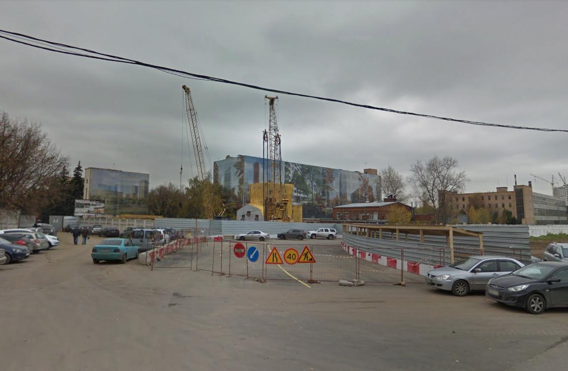 Предположительно, место обнаружения снаряда на Рязанском проспекте. Скриншот Google maps