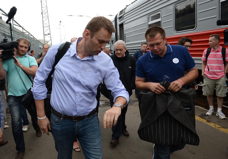 <p><span>Алексей Навальный (слева) и Николай Ляскин (справа). Фото: &copy;РИА Новости/Рамиль Ситдиков</span></p>