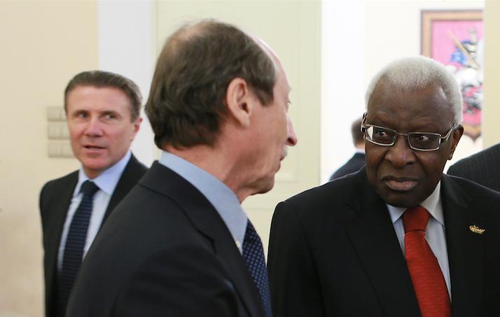 <p>Серге Бубка, Валентин Балахничёв и Ламин Диак в Москве. Фото: &copy; РИА Новости/Антон Денисов</p>