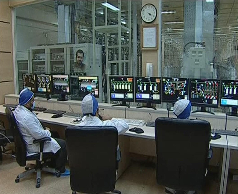 Комната контроля над обогащением на объекте, в ядерном центре по обогащению урана — Натанзе. Фото: © REUTERS/IRIB Iranian TV via Reuters TV