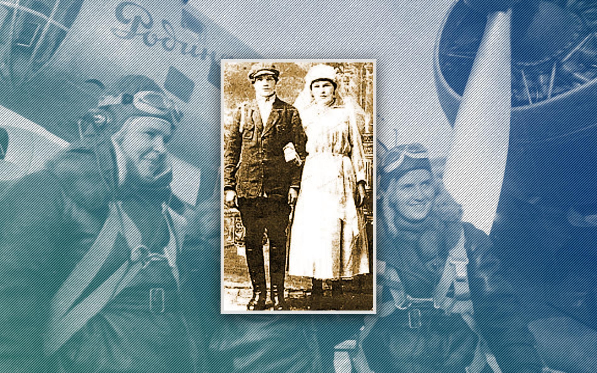 Свадебное фото Степана и Полины Говяз. 1 февраля 1926 года. Коллаж. Фото: © РИА Новости, pro.berdyansk.biz