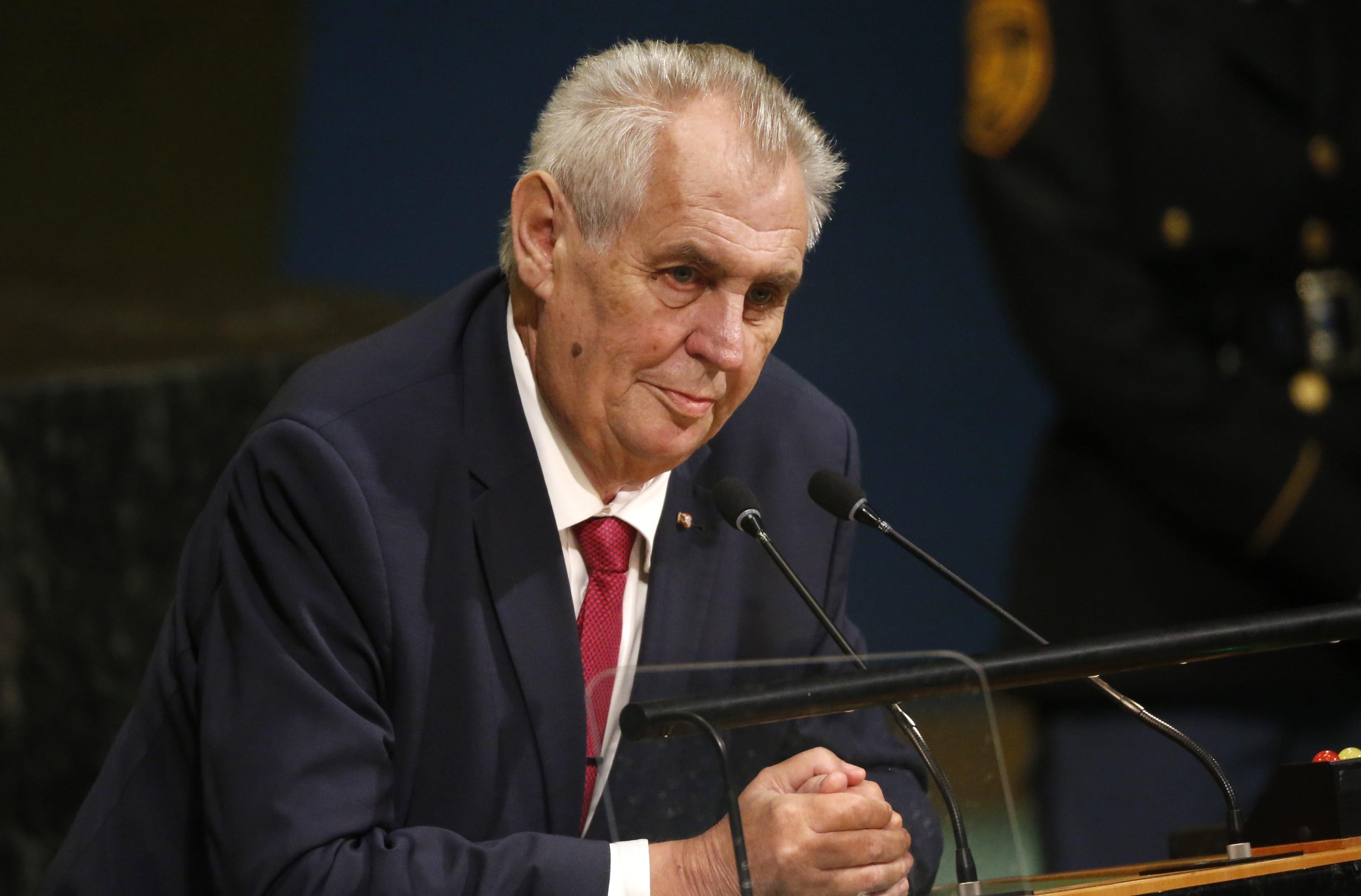 <p>Президент Чехии Милош Земан. Фото: &copy; REUTERS/Shannon Stapleton</p>