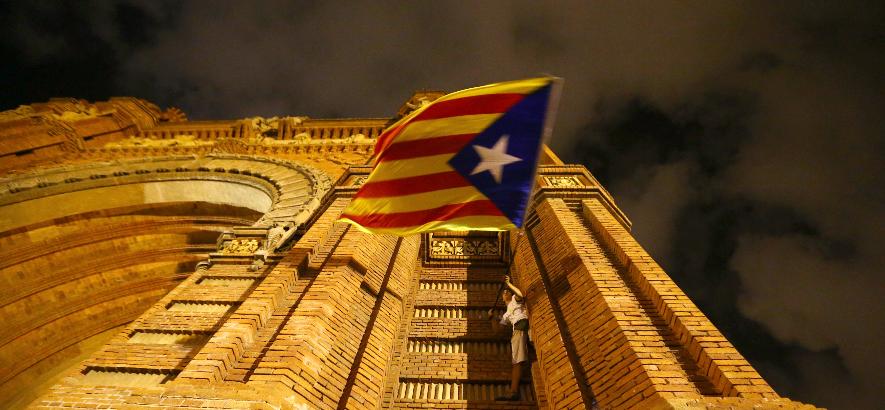 <p>Флаг Каталонии. Фото: &copy;&nbsp;<span>REUTERS/Ivan Alvarado</span></p>