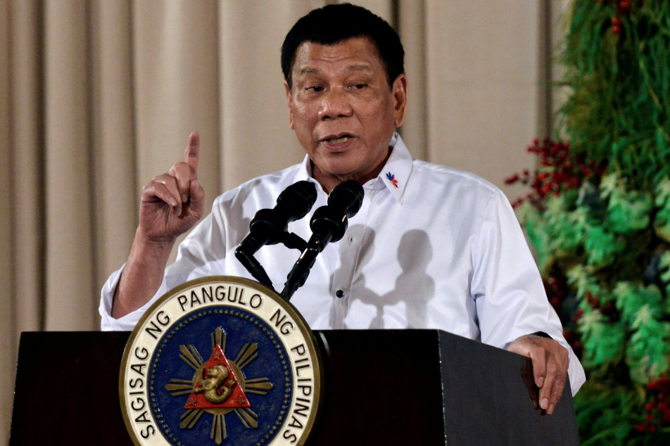 <p><span>Президент Филиппин Родриго Дутерте. Фото:&nbsp;</span><span>&copy;&nbsp;</span><span>REUTERS/Ezra Acayan</span></p> <div> <div></div> </div>