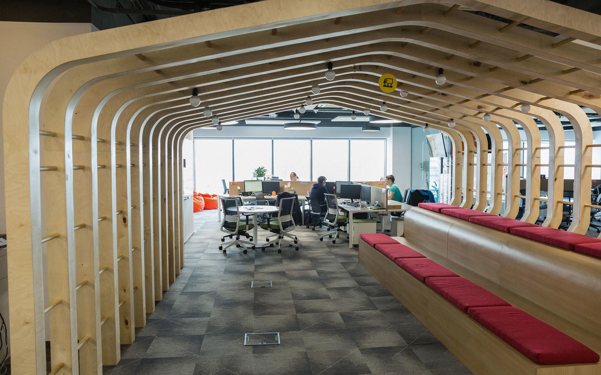 """Офис Сбербанка для работы в Agile-формате. Фото: © Агентство городских новостей """"Москва"""" / Кирилл Зыков"""