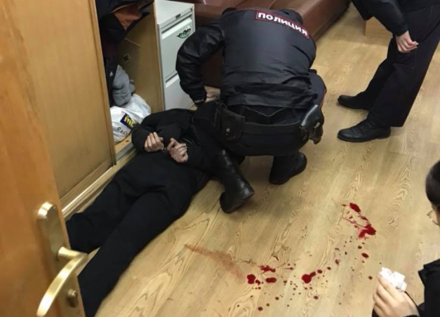 Подозреваемый в нападении на Татьяну Фельгенгауэр. Фото: facebook/vit.ruvinski