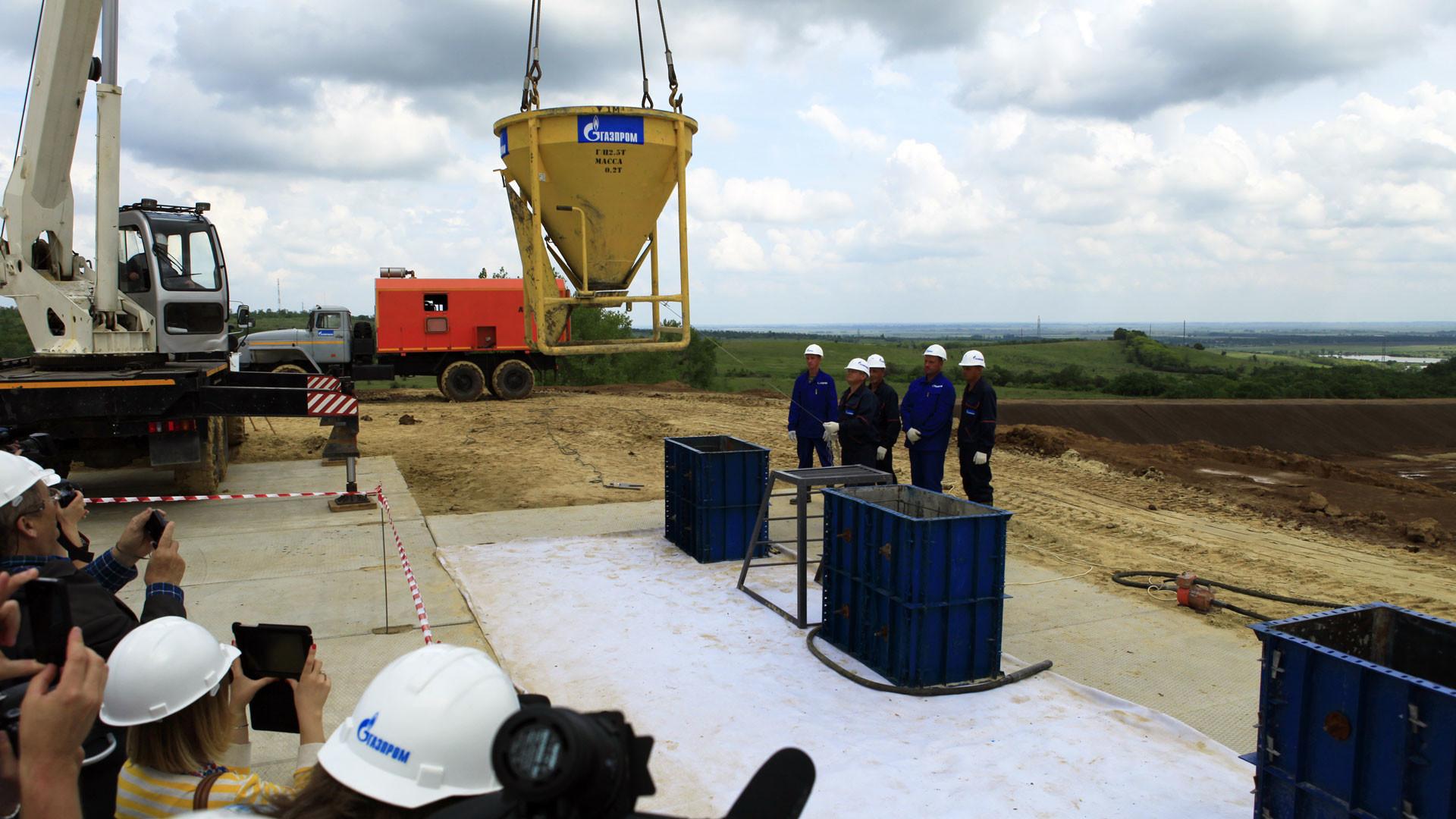 """Cтроительство компрессорной станции """"Казачья"""". Фото: © ПАО """"Газпром"""""""