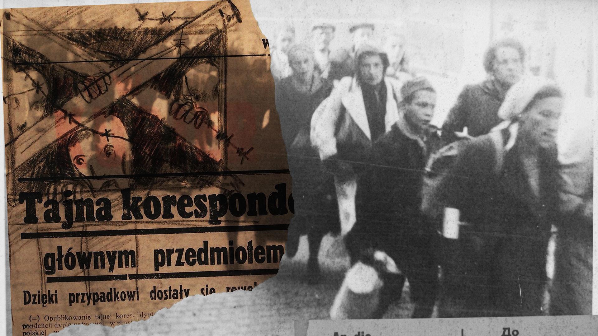 Коллаж © L!FE. Первая депортация из Кракова. Фото: © flickr/damian entwistle © sobiborinterviews.nl