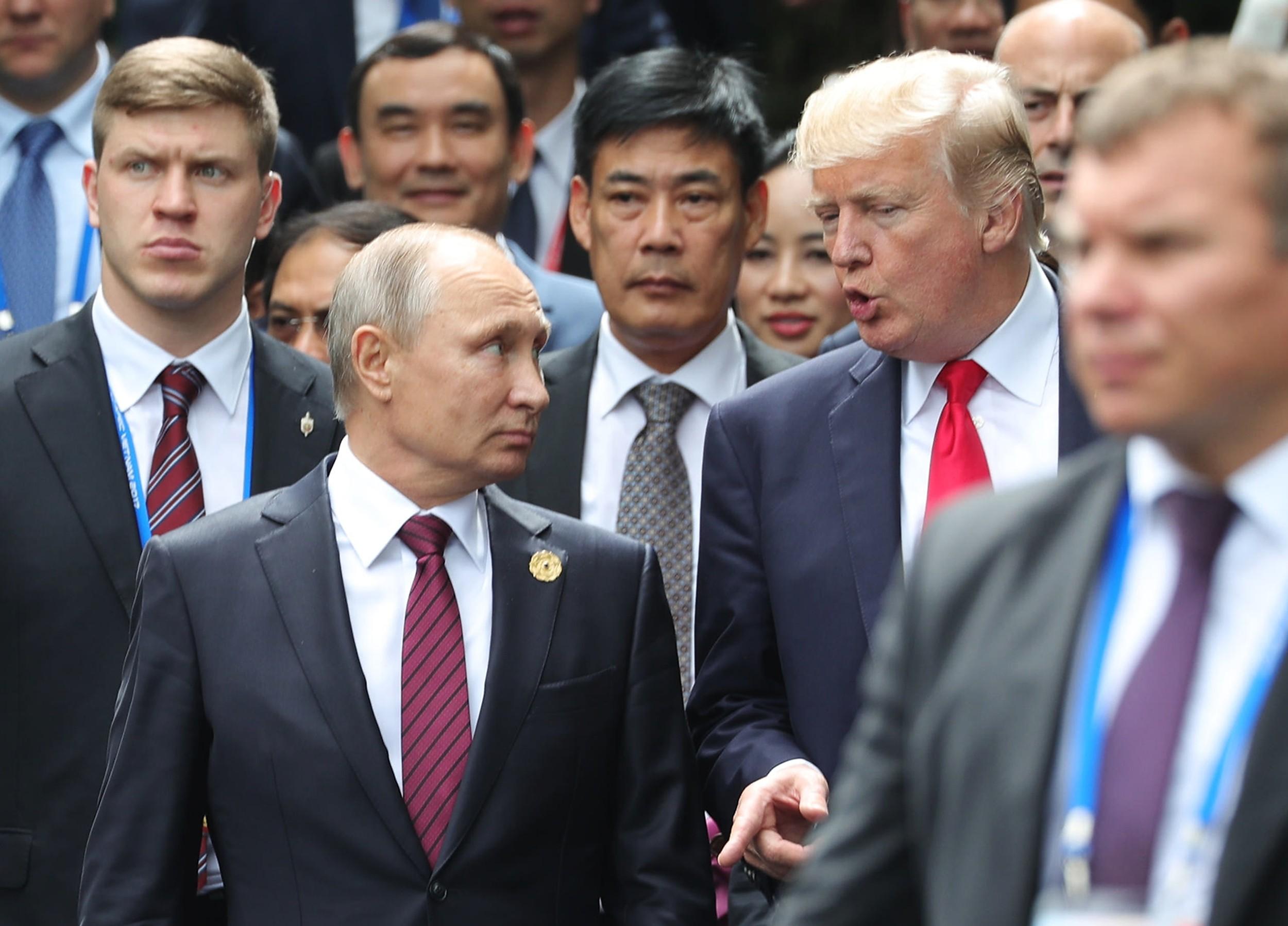 <p>Президент РФ Владимир Путин и президент США Дональд Трамп. Фото: &copy;РИА Новости/Михаил Климентьев</p>