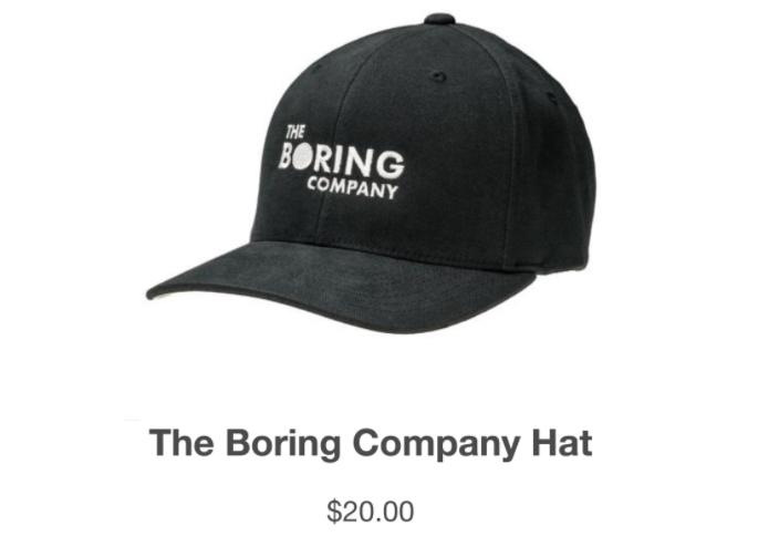 Скриншот с сайта The Boring Company