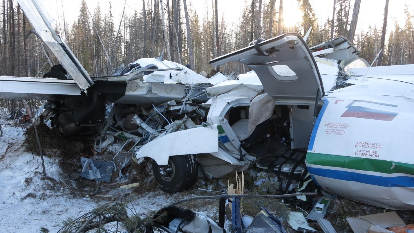 Разрушенный L-410 на месте падения. Фото: © МАК
