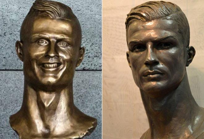 Статуя криштиану роналду в мадриде