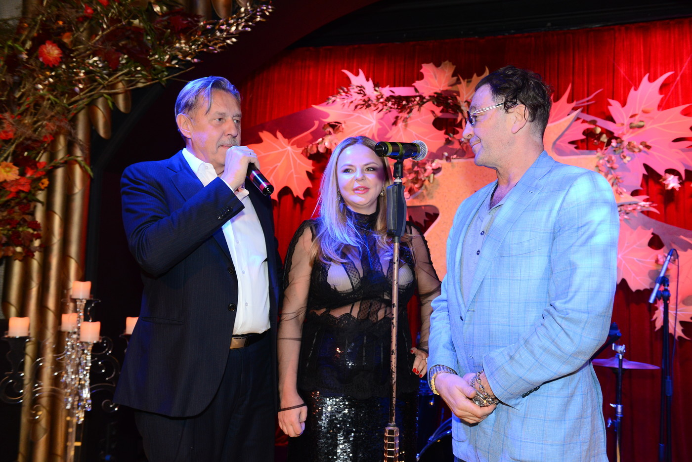Григорий Лепс со своей бывшей командой — Александром Никитиным и Майей Сериковой. Фото: Социальные сети
