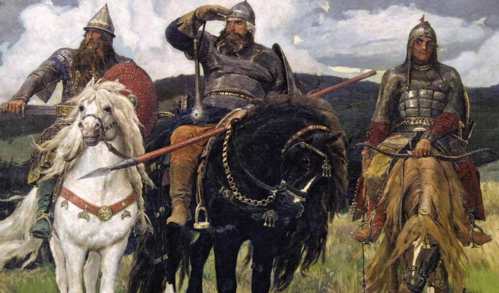 """Репродукция картины """"Богатыри"""" В. Васнецова (1881—1898)"""