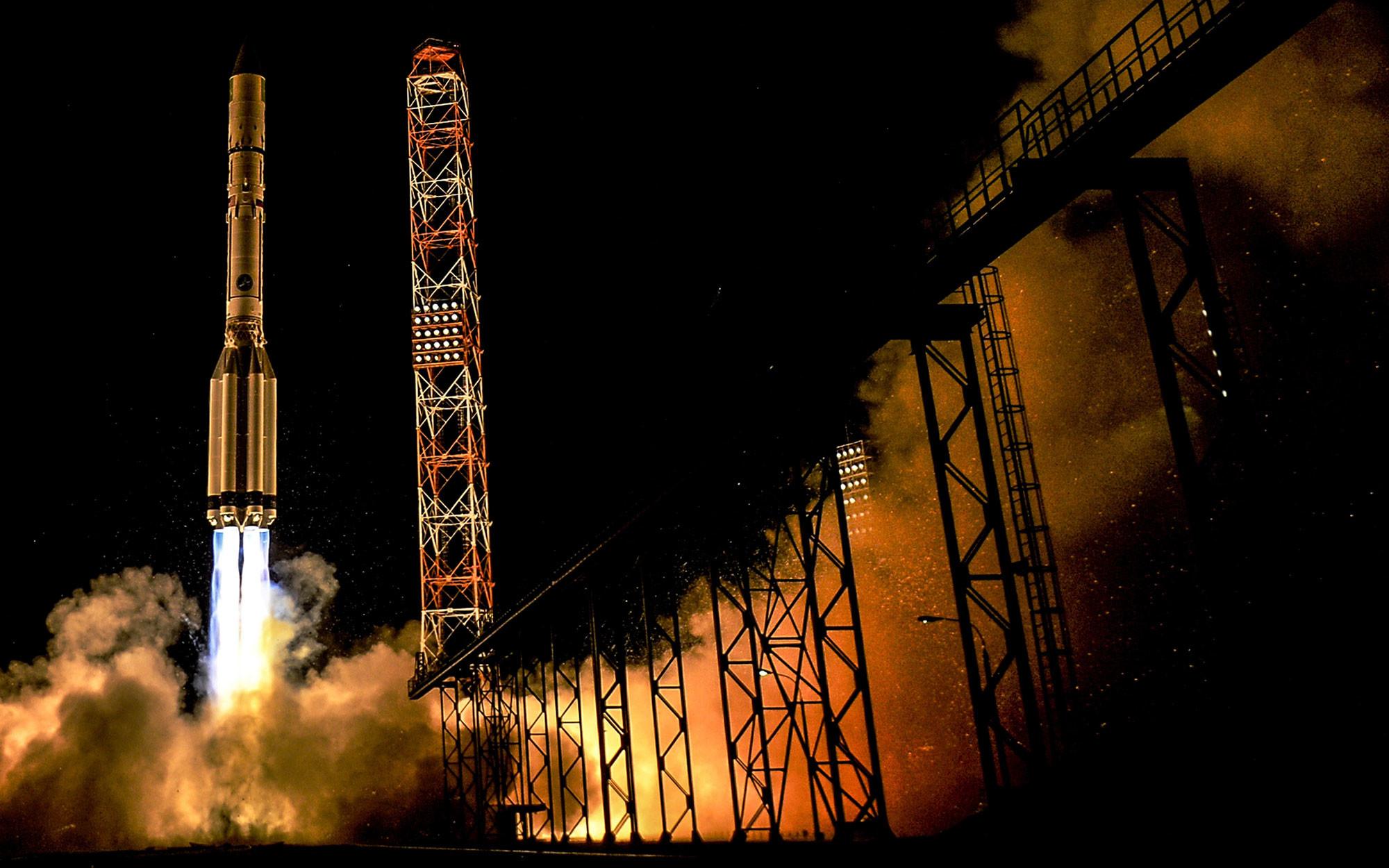"""Старт ракеты-носителя """"Протон-М"""". Фото: © РИА Новости / Алексей Филиппов"""