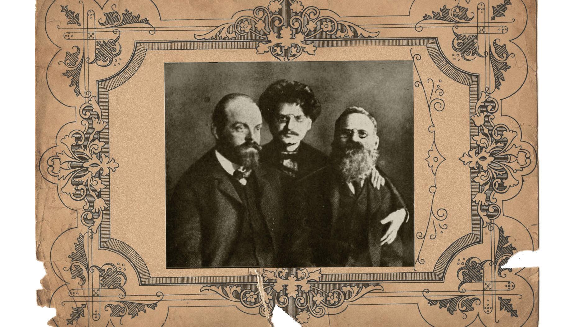 Парвус (слева) с Троцким (в центре) и Лев Дейч. Коллаж © L!FE. Фото: © Wikipedia.org