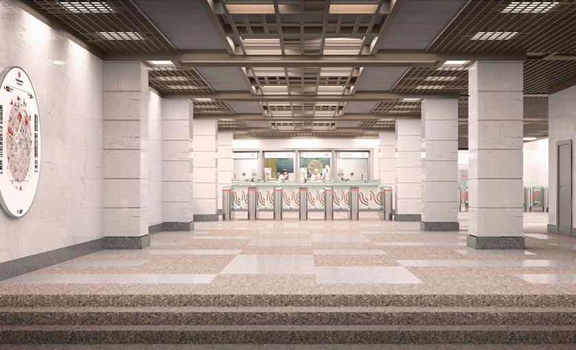 Проектное решение метро. Фото © Mos.ru