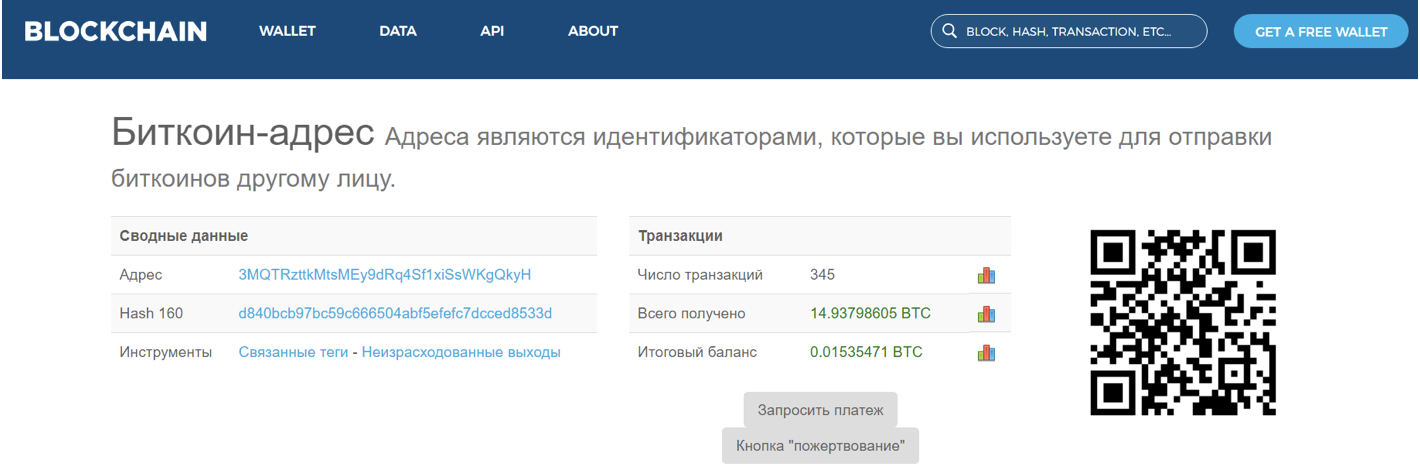 Скриншот © L!FE/blockchain.info
