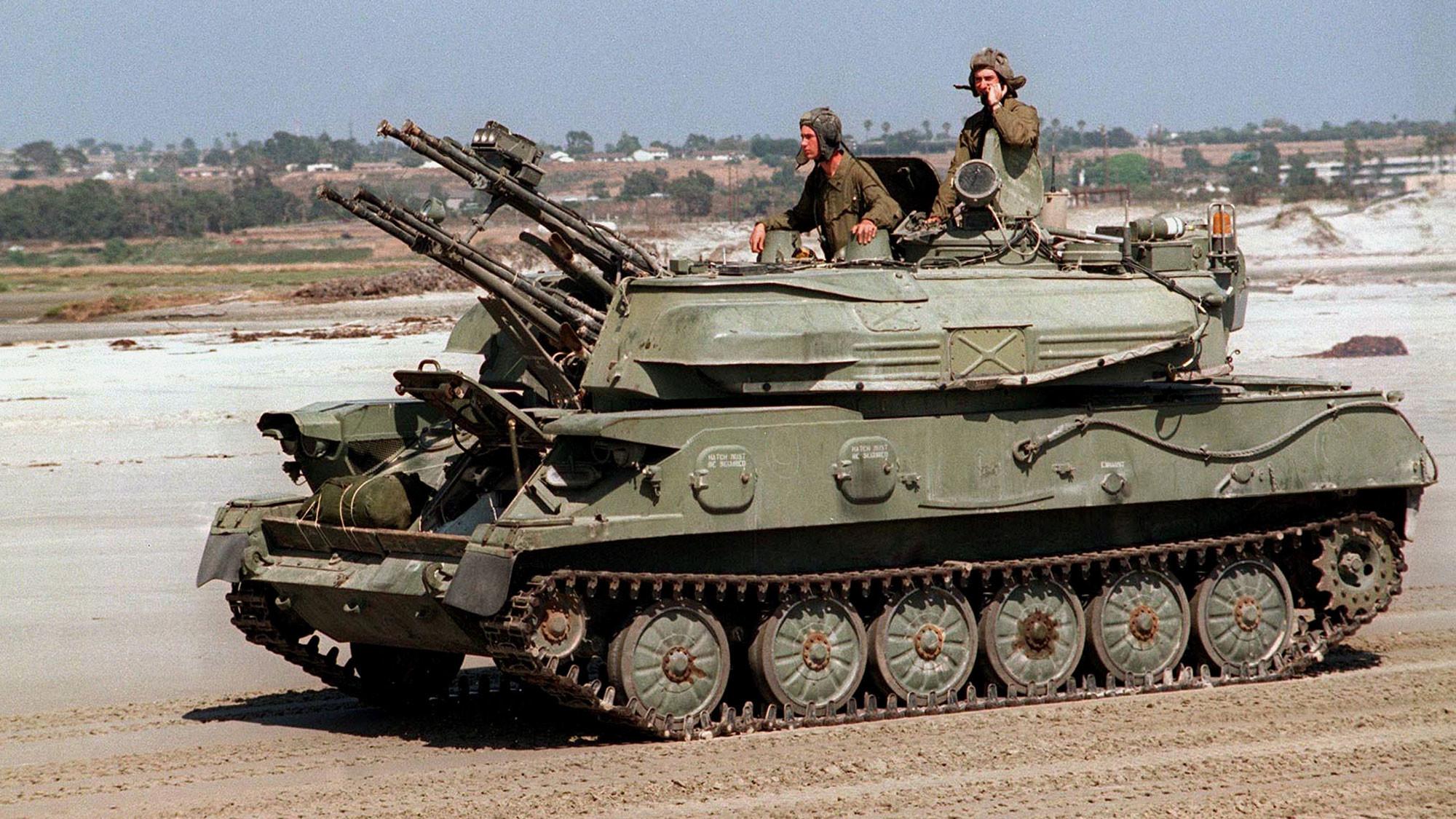 """Зенитная самоходная установка """"Шилка"""". Фото: © Wikipedia.org"""