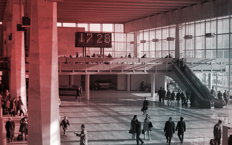 Курский вокзал в Москве, 1972 год. Фото: © РИА Новости / Юрий Артамонов