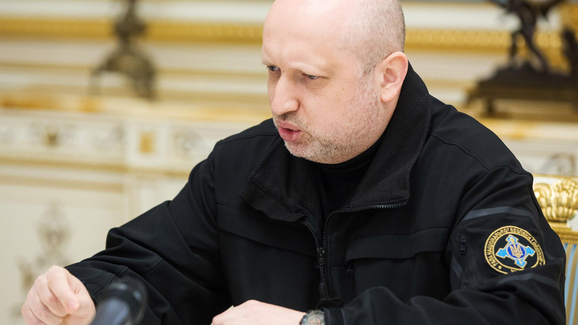 Секретарь Совета национальной безопасности и обороны (СНБО) Украины Александр Турчинов. Фото: © РИА Новости/Михаил Маркив