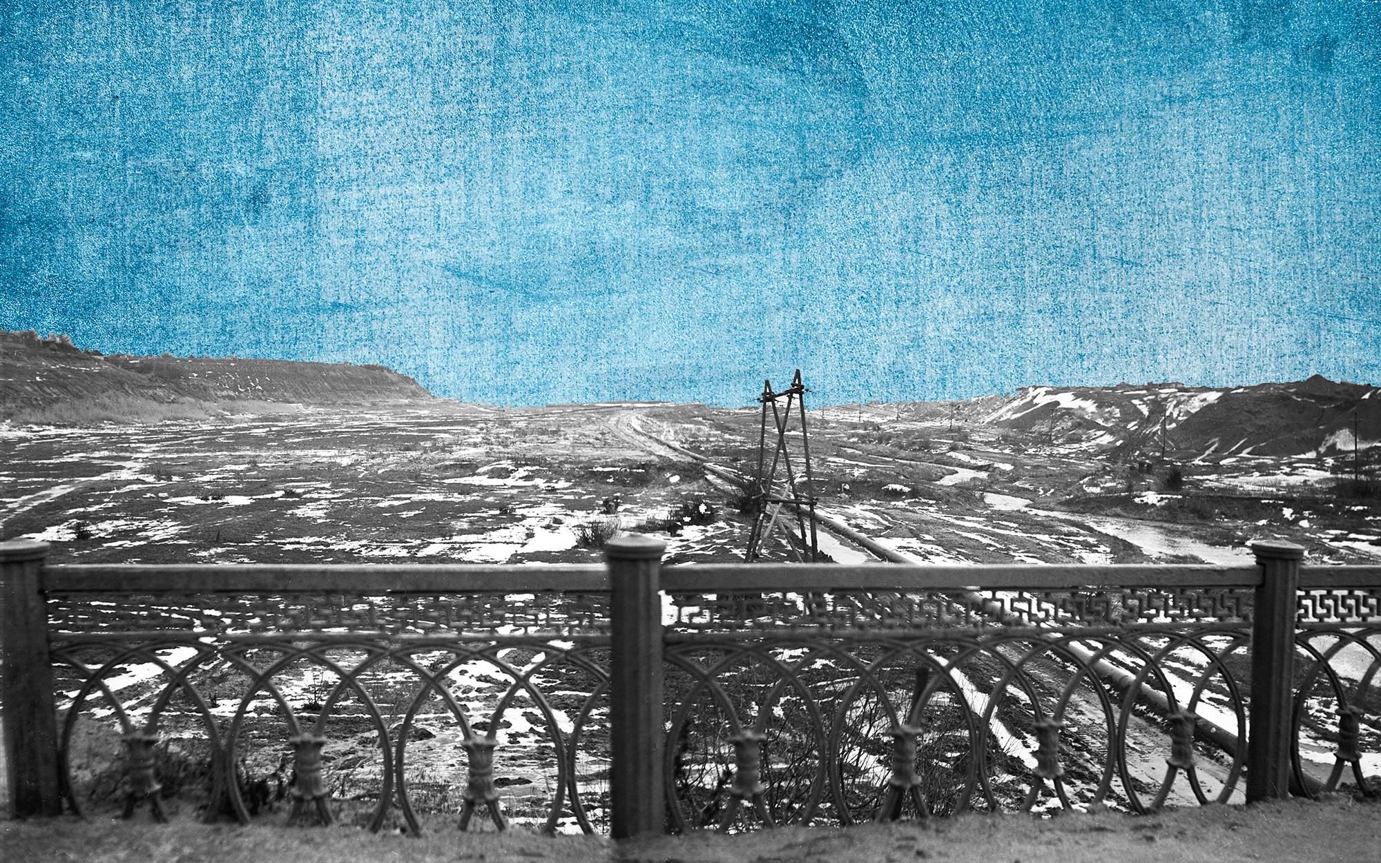 По этой лощине во время Великой Отечественной войны 1941–1945 годов немецкие войска вышли к Волге и захватили узкую полоску берега на севере Сталинграда. Панорама. Коллаж © L!FE. Фото: © РИА Новости / И. Павлов