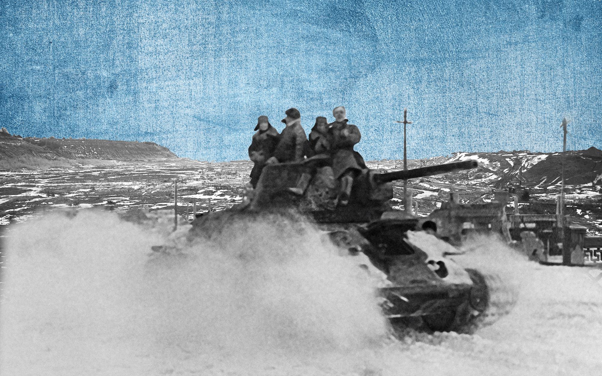 Участники героической обороны Сталинграда. Коллаж © L!FE. Фото: © РИА Новости / Георгий Зельма