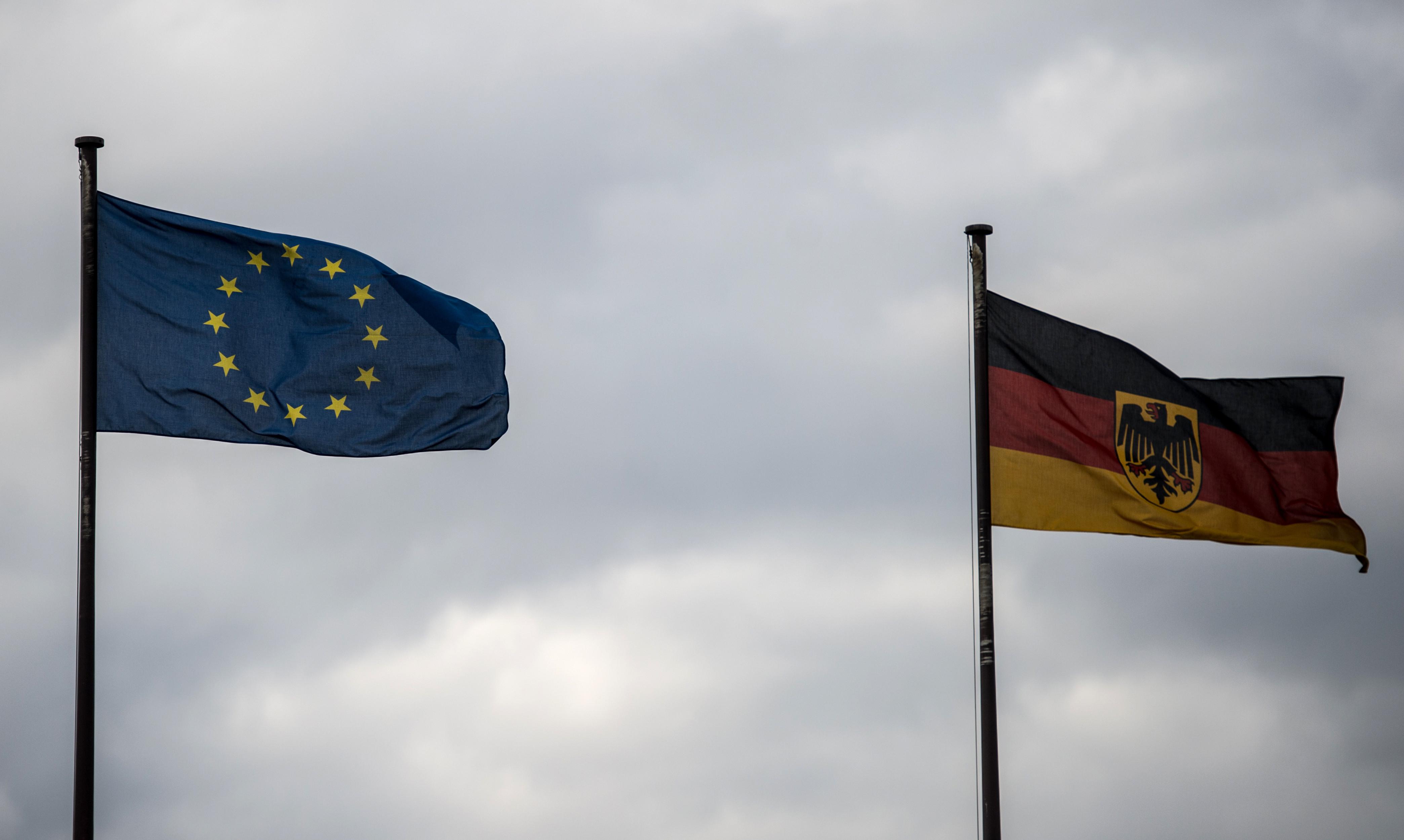 <p><span>Флаги Еврасоюза и Федеративной Республики Германия в посольстве Германии в РФ в Москве&nbsp;</span></p> <p><span>Фото: &copy;РИА Новости/Евгения Новоженина</span></p>