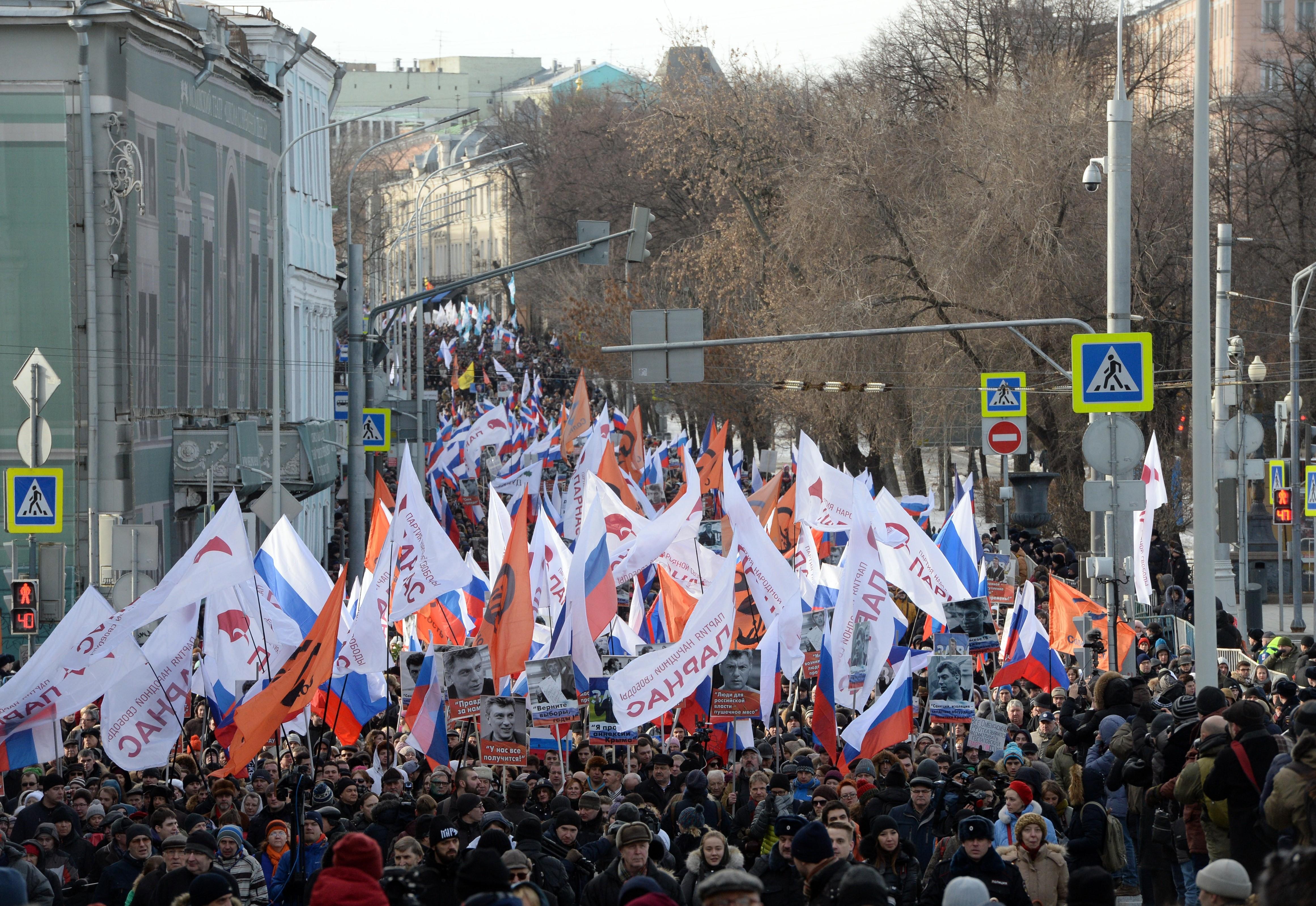 <p>Марш памяти Бориса Немцова в прошлом году.&nbsp;Фото: &copy; РИА Новости / Илья Питалев</p>